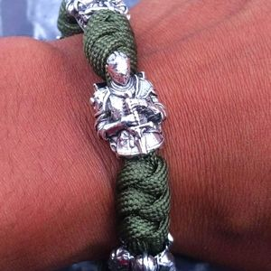 Righteous Knight Army Green Bracelet